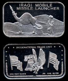 Iraqi Mobile Missile Launcher Silver Bar