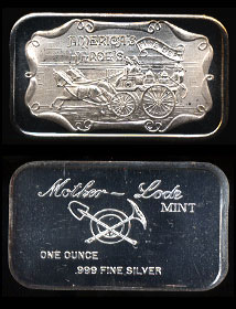 MLM-10 (1973) Fire Deptartment - America's Heroes Silver Artbar