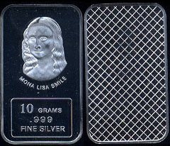 Mona Lisa Smile 10 Grams Silver Artbar