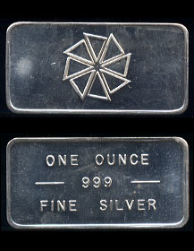 PM-10 Pioneer Mint Commercial Bar Silver Artbar