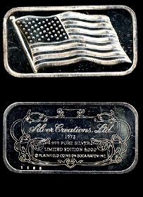 SCL-12 American Flag Silver Artbar