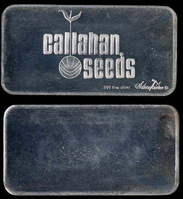 ST-211 Callahan Seeds  3.4 Ounce Silver Ingot