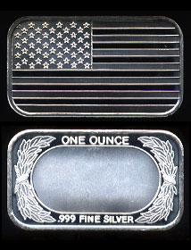 ST-98 (1998) American Flag Silver Artbar