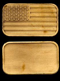 ST-98 American Flag--Bronze Artbar