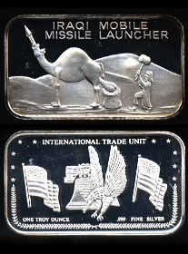 TMC-2 (1991) Iraqi Mobile Missle Launcher silver bar