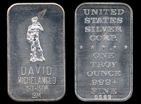 USSC-29 (1974) David Michelanglo Silver Artbar