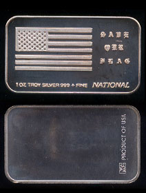 WA-106 (1989) Save Our Flag Silver Artbar