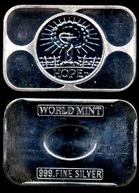 WI-1 (1974) Hope Silver Artbar