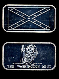 WM-30 Confederate Battle Flag Silver Artbar