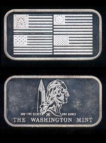 WM-35 (1972) American Flag Silver Artbar