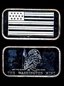 WM-36 American Flag Silver Artbar