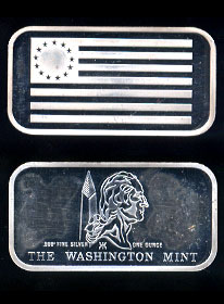 WM-37 (1972) Betsy Ross - American Flag Silver Artbar