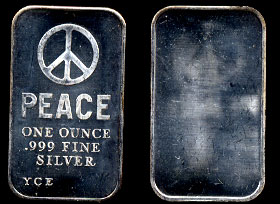 YCE-1 (1970) Peace Sign Silver Artbar
