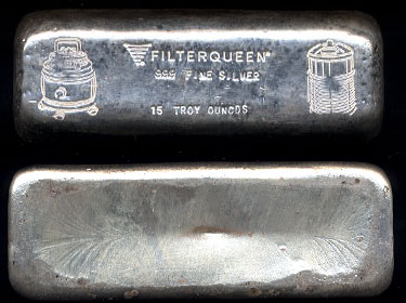 FilterQueen  Vaccums and Air Quality Systems Unusual 15 Ounce Ingot