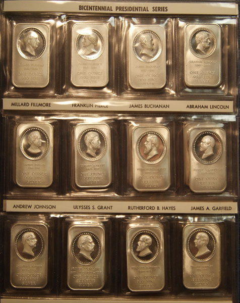 Madison Mint S Presidential Cameo Silver Bars