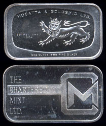 Refiners And Mints Silver Artbars