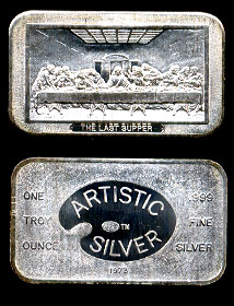 ART-2 The Last Supper Silver Artbar