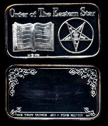CCM-68  Order of The Eastern Star Silver Art Bar