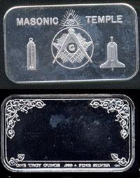 CCM-64  Masonic Temple Silver Artbar