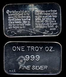 DCP-54 Lords Prayer Silver Artbar
