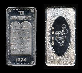 GLM-74 (1974) The Ten Commandments Silver Artbar