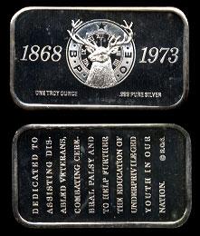 LET-5   B. P. O. E. (Elks) Silver Art Bar