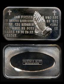 MAD-183 Lords Prayer Silver Artbar