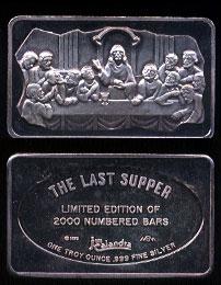 MEM-17  The Last Supper Silver Artbar