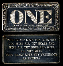 ONE-3 Bible Quote Silver Artbar