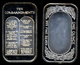 ST-331 Ten Commandments Silver Artbar