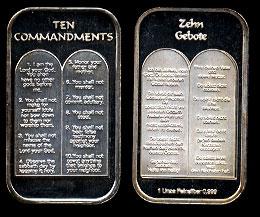 ST-331 Ten Commandments-German Silver Artbar