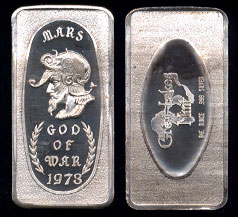 GLM-21 Mars, God of War Silver Artbar