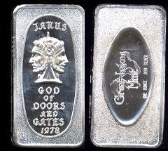 GLM-22 Janus, God of Doors & Gates Silver Artbar