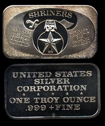 USSC-162 (1973) Shriners Silver Artbar