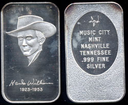 WWM-20 Hank Williams Silver Artbar