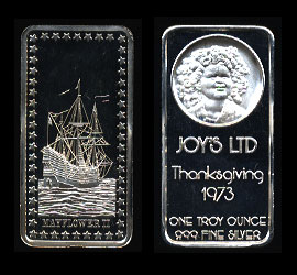 HAM-213 Mayflower II Thanksgiving/joy's ltd Silver Art Bar