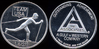 1988 Team USA Outstanding Achievement Silver Round