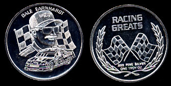 Dale Earnhardt Jr. Racing Greats 1oz Silver Round