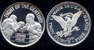 Fight of the Century Leonard Vs. Hagler 04-06-1987  Leonard Won Split Decision in 12th Round Silver Round