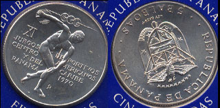 Republic Of Panama The Official 1970 Central America and Caribbean Games Commemorative Coin Silver Coin