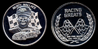 Rusty Wallace Racing Greats Silver Art Round
