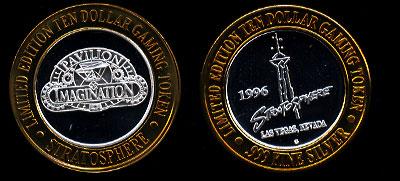 1996 $10 Gaming Token Stratosphere