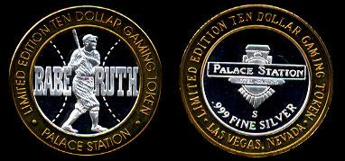 BABE6 Palace Station Babe Ruth Silver Strike