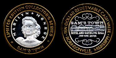 Sams Town Marilyn Monre Silver Strike CSSY