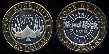 Hard Rock Hotel The Joint Limited Edition Ten Dollar Gaming Token