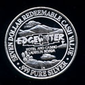 Edgewater Hotel & Casino Laughlin, Nevada .999 Fine 2 / 3 Ounce Silver Medal (35MM) Mule Deer
