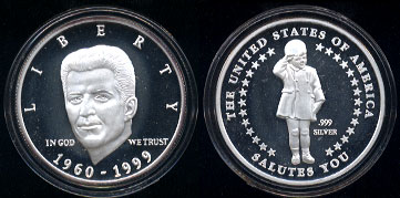 Political Related Silver Art Rounds