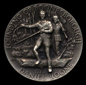 Founding of Boonesborrough Longines Silver Art Round