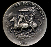 1860 Pony Express Longines Silver Art Round