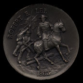 1862 Robert E. Lee Longines Silver Art Round